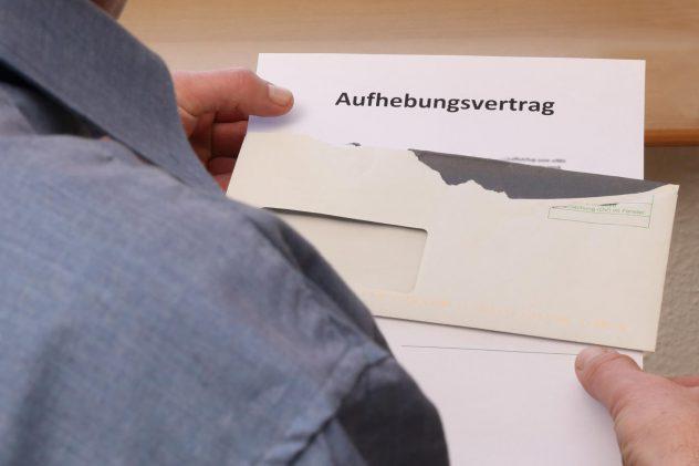 Brief mit Aufhebungsvertrag