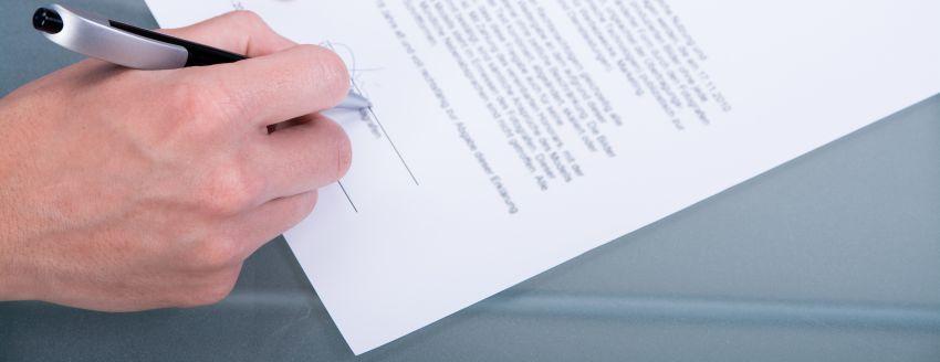 Ein Aufhebungsvertrag vor der Unterschrift
