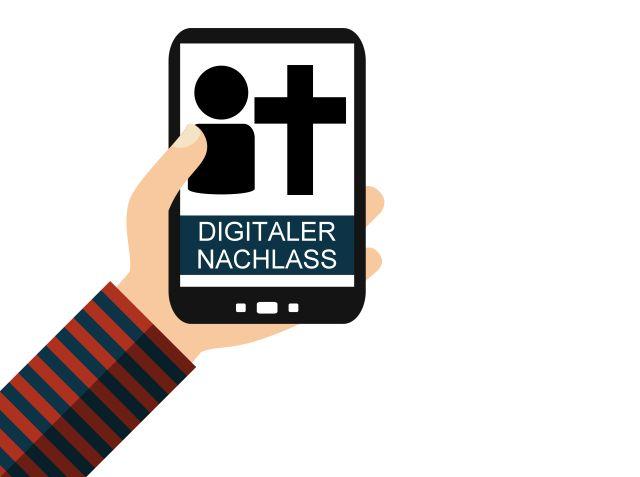Hand mit Smartphone: Digitaler Nachlass