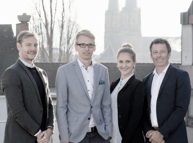 Anwälte der Kanzlei Lamster Jan Kuhlike, Philipp Porep, Julia Kuberski und Martin Lamster